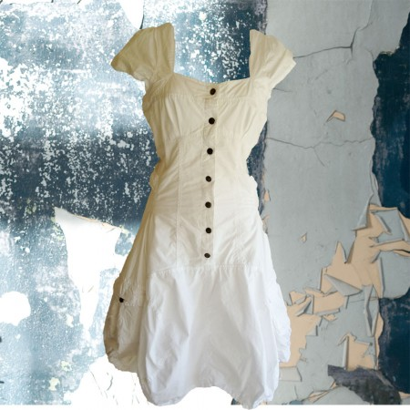 white NTS sail dress