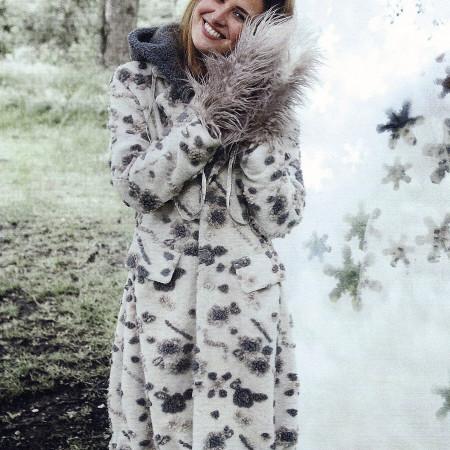 cream hooded coat