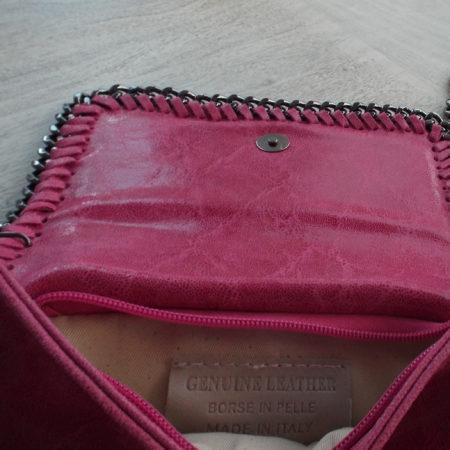 pink clutch bag inner