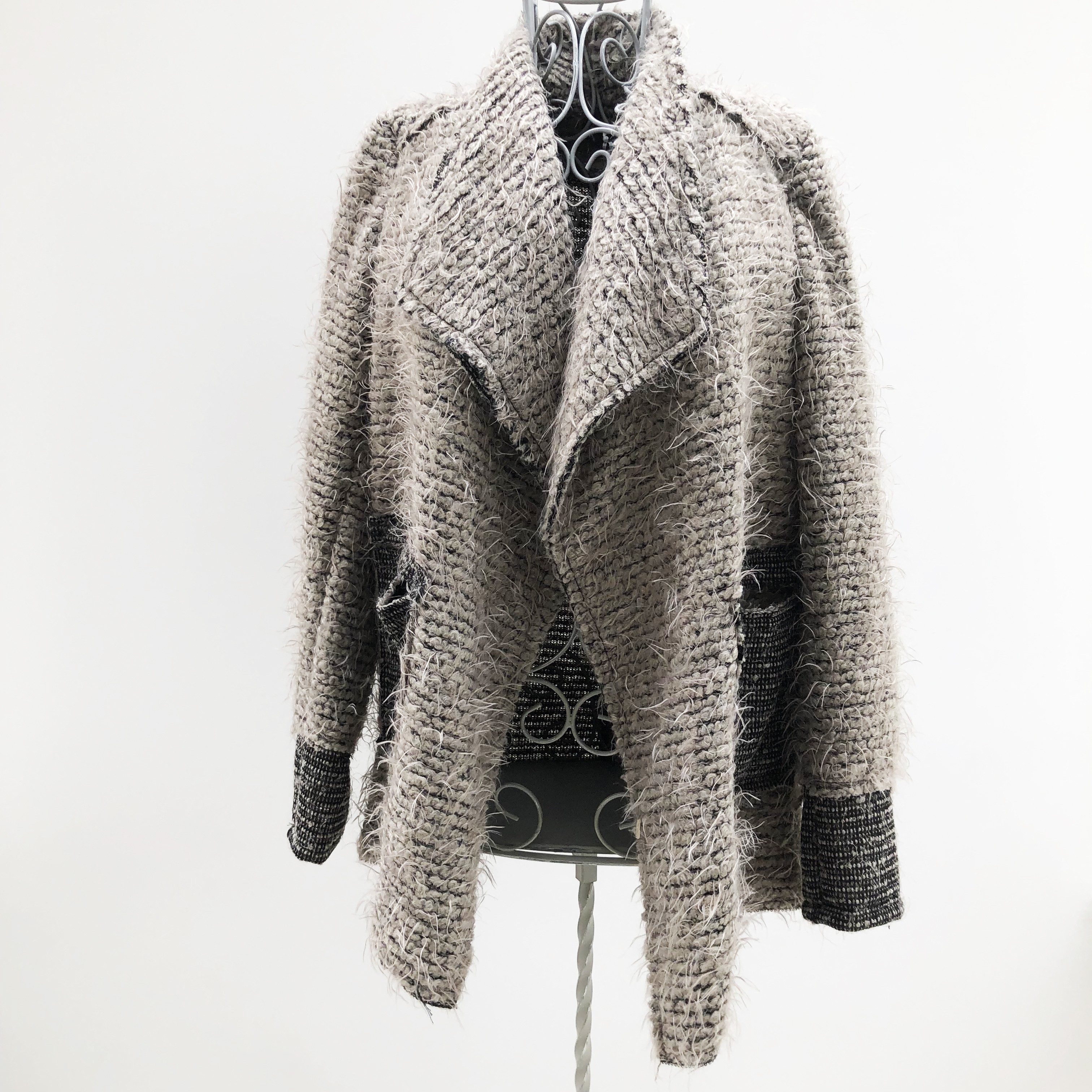 """was £191.99 Grey Jacket by /""""Angels Never Die/"""" with faux fur-lined collar"""