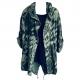 dark green tiger print hooded jacket