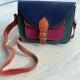 multicolour leather satchel