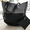 black and pewter handbag + purse