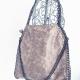 pinky-beige chain-edged handbag