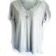 Dove grey silver star t-shirt