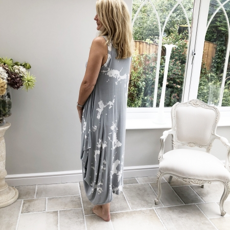 Grey tie-dye dress (side)