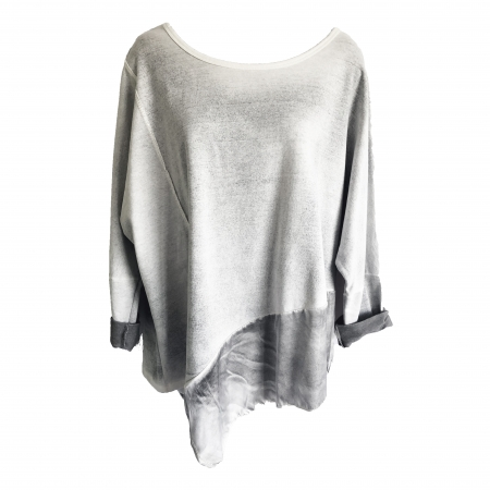 Grey two-tone asymmetric top