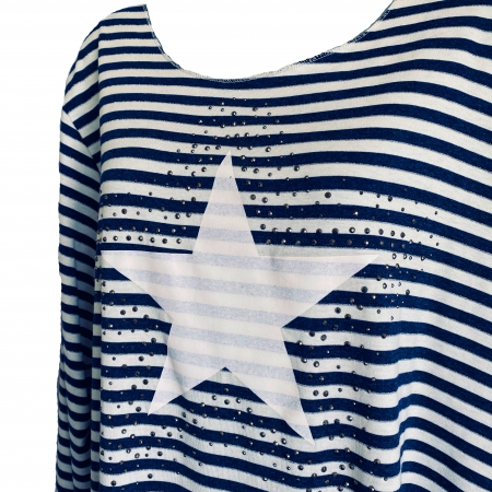navy striped star top (detail)