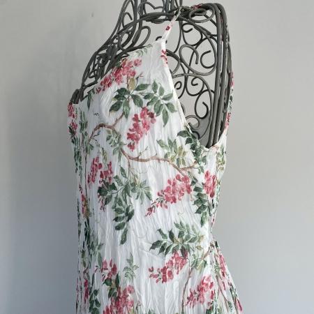 white floral dress (detail)
