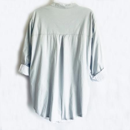 Aqua green and white shirt (back)