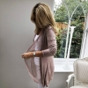 Dusty pink fine cardigan (side and back)