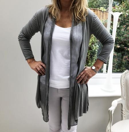 Grey fine cardigan