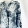 Grey geometric print shirt (detail)