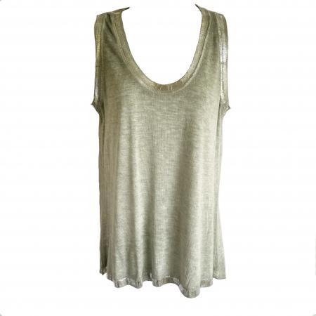 sage green silver-edged vest
