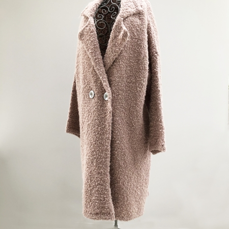 Pink full-length knitted jacket
