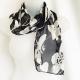 Adini black and ivory scarf