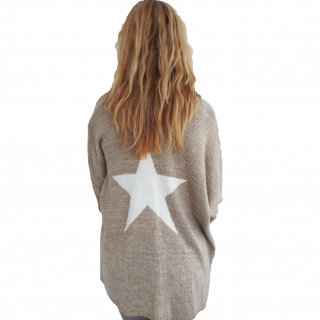 Beige star cardigan