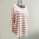 Pink and white striped jumper