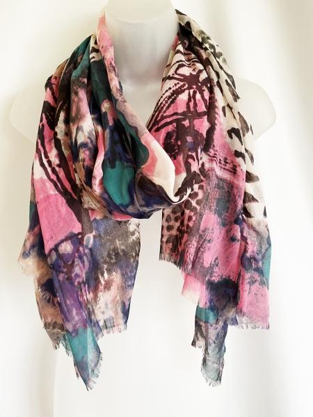 Pink paint splash scarf