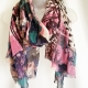 Pink paint splash scarf