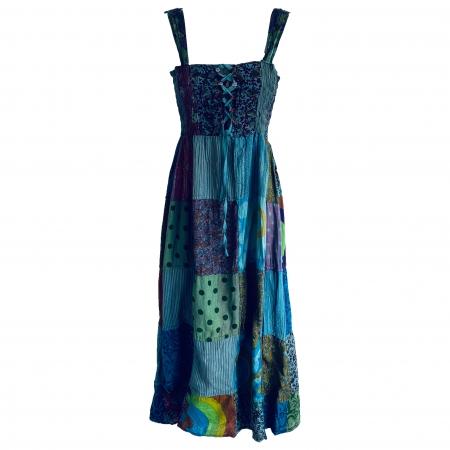 Hippie patchwork midi dress 3