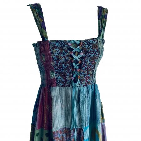 Hippie patchwork midi dress 3 (detail)