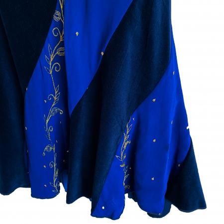 Blue panelled hippie skirt (detail)