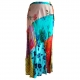 Boho patchwork midi skirt