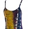 Hippie purple and amber mini dress (detail)