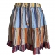 Mini crinkle cotton skirt