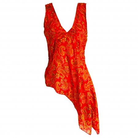 "Orange silk ""Nomads"" top"