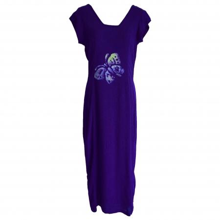 Purple batik butterfly dress