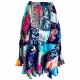 Multicoloured patchwork hippie skirt